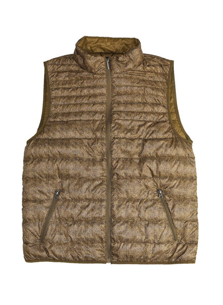 F/X Fusion F/X Fusion Down Puffer Vest-Bark Tweed