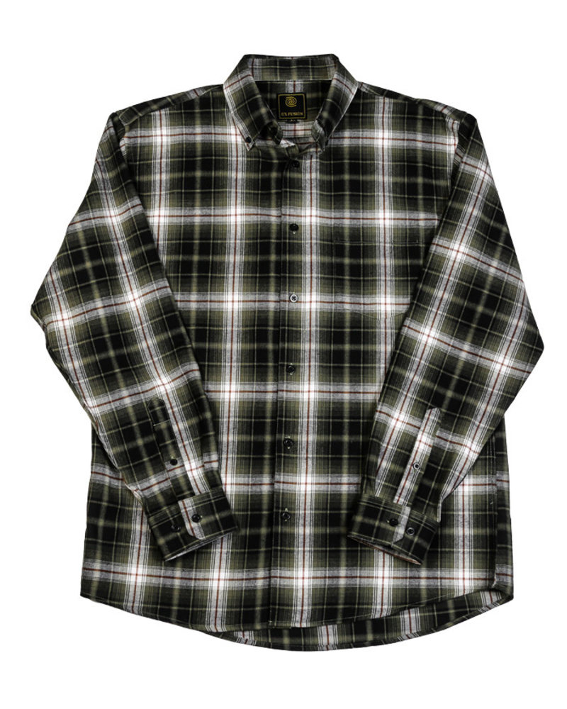 F/X Fusion F/X Fusion LS Brushed Flannel-Taupe/Blk