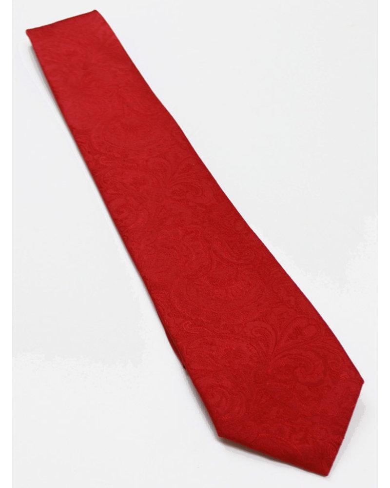 F/X Fusion F/X Fusion Red Tonal Paisley Tie