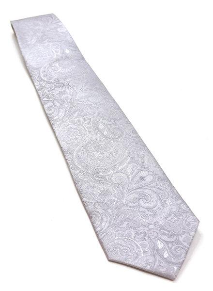 F/X Fusion F/X Fusion Silver Tonal Paisley Tie