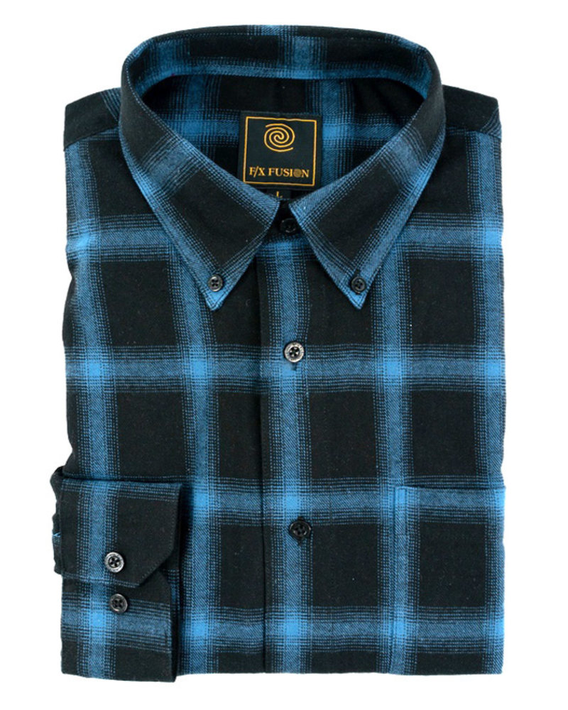 F/X Fusion F/X Fusion LS Blue Box Plaid Flannel