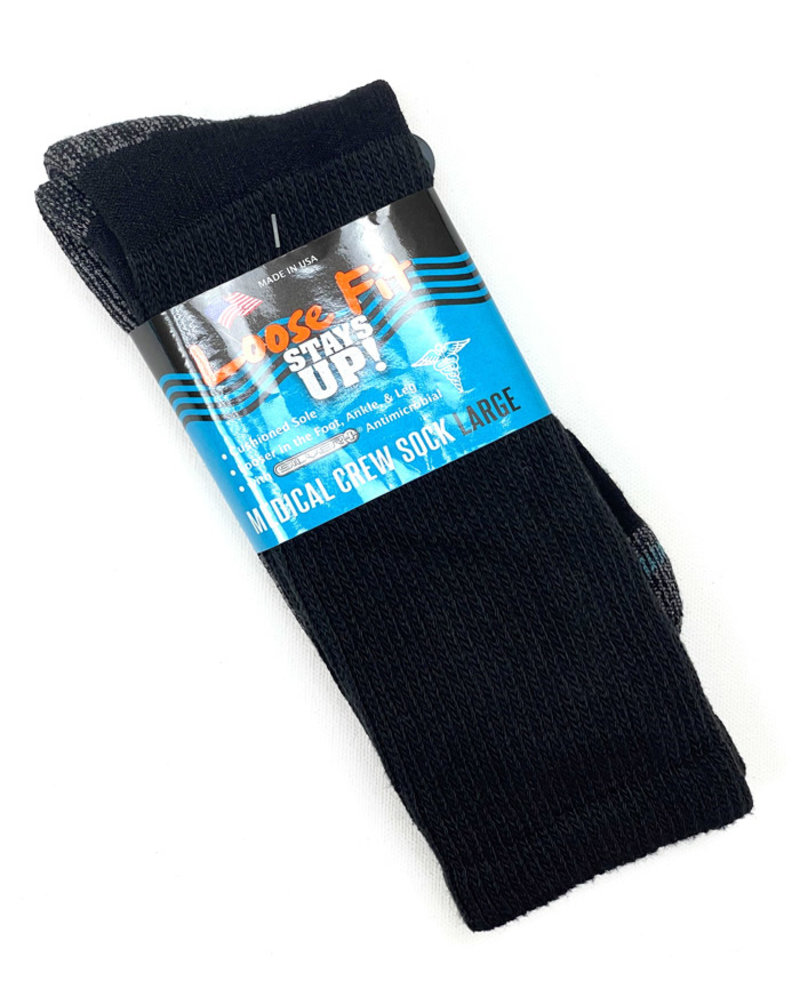 Extra Wide Sock Extra Wide Loose Fit Medical-Black