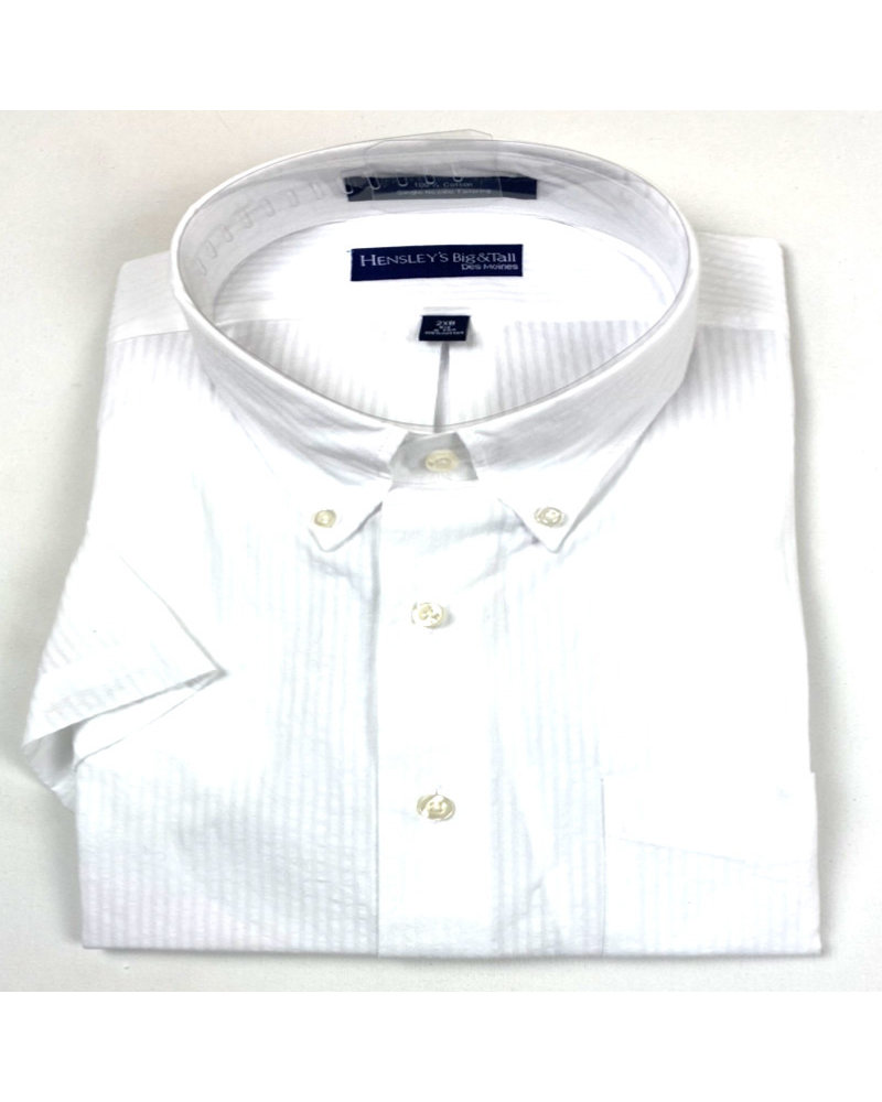 Hensley's Hensley's SS BD White Seersucker Shirt