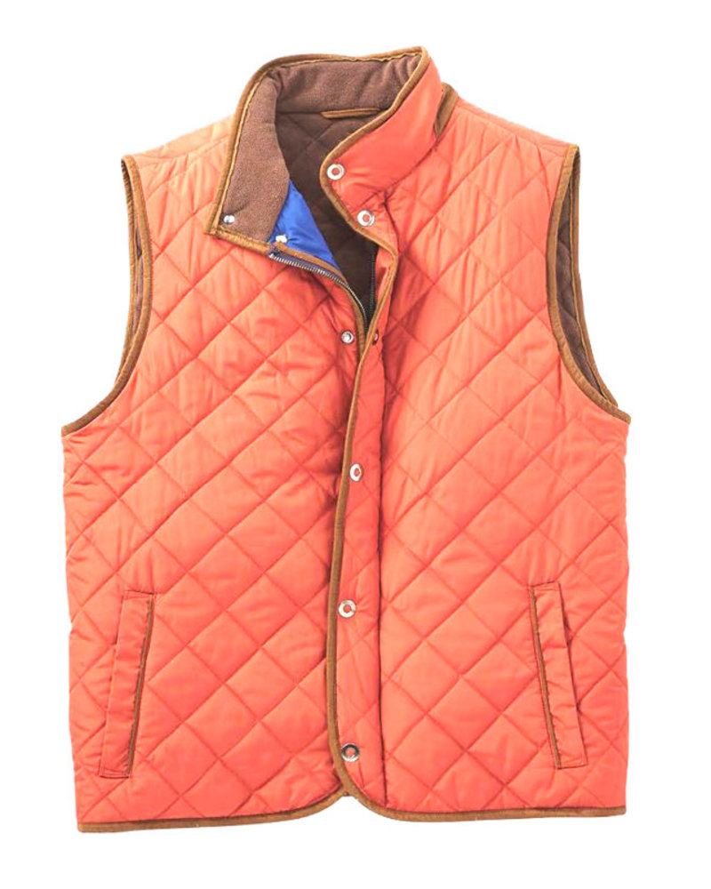 F/X Fusion F/X Fusion Quilted Field Vest-Rust