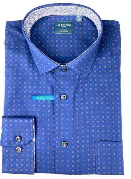 Leo Chevalier Leo Chevalier LS NI Tonal Oxford Blue Shirt