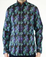 Luchiano Visconti Hensley's LV LS Multi Geo Line Shirt