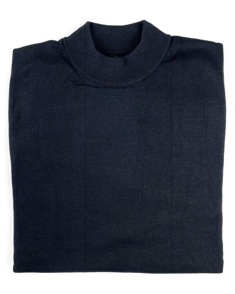Tulliano Tulliano Black Mock Neck Pullover