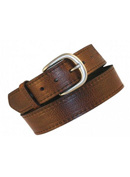"Boston Leather Boston Leather 11/2"" Dk Pecan Bison Lthr Belt"