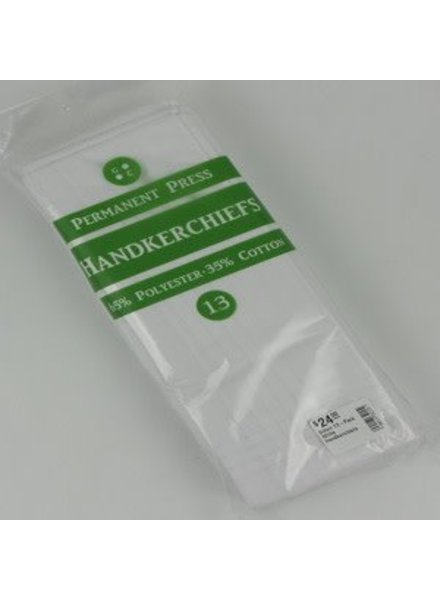 Gilton 13-Pack White Handkerchiefs