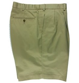 Cordovan Grey Pleated Cotton Shorts - Three Colors