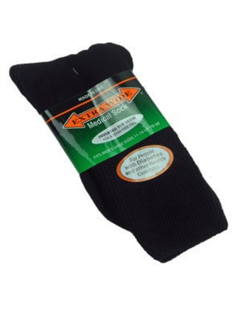 Extra Wide Crew Length Medical Socks