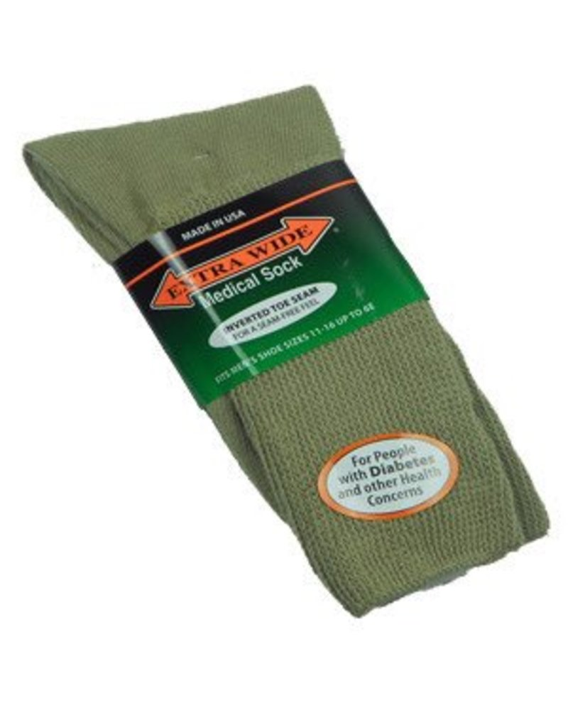 Extra Wide Sock Extra Wide Crew Length Medical Socks