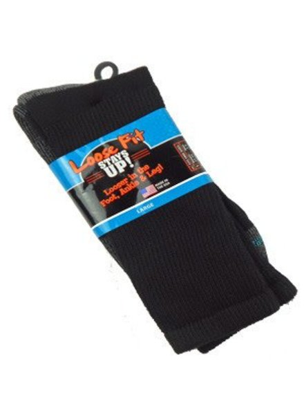 Extra Wide Sock Extra Wide Crew Loose Fit/Stays Up 12-15