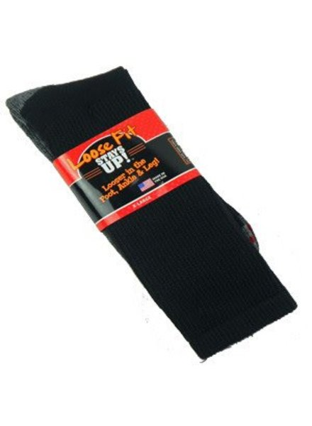 Extra Wide Sock Extra Wide Crew Loose Fit/Stays Up 15.5-19