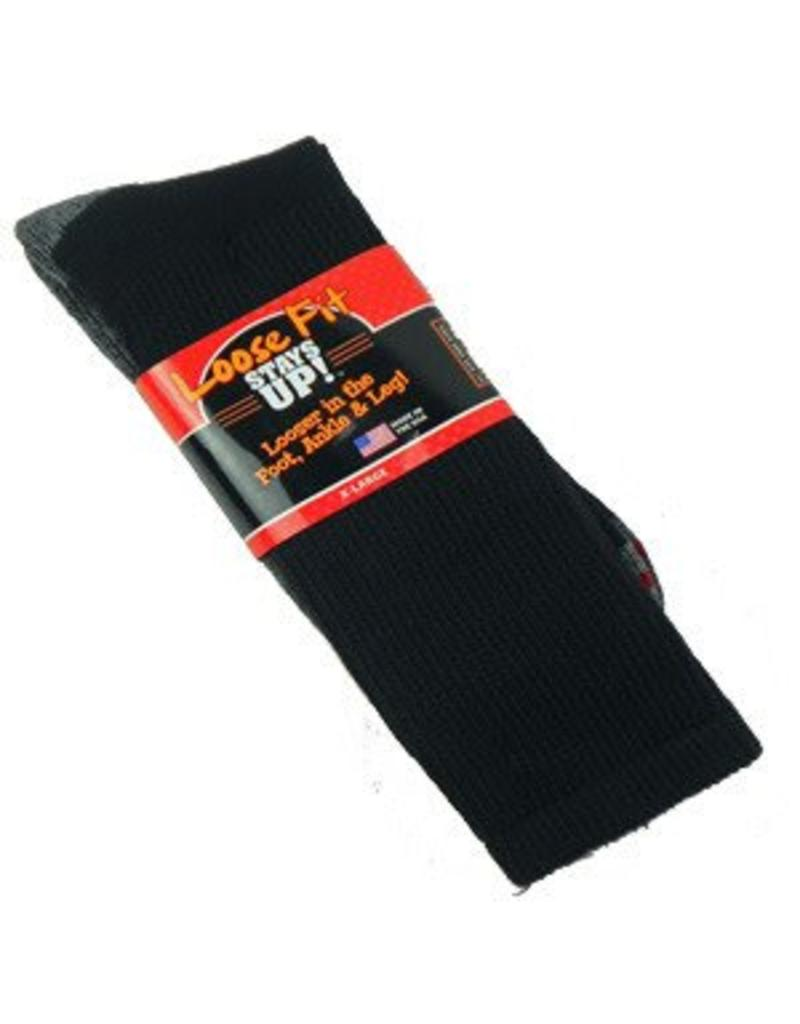 Extra Wide Crew Loose Fit/Stays Up XL Socks