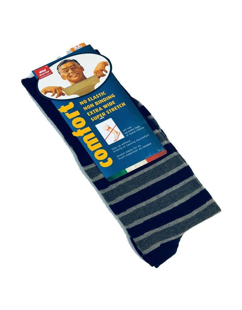 Venetex 3-1 King-Size Stripe Socks (No Cushion)