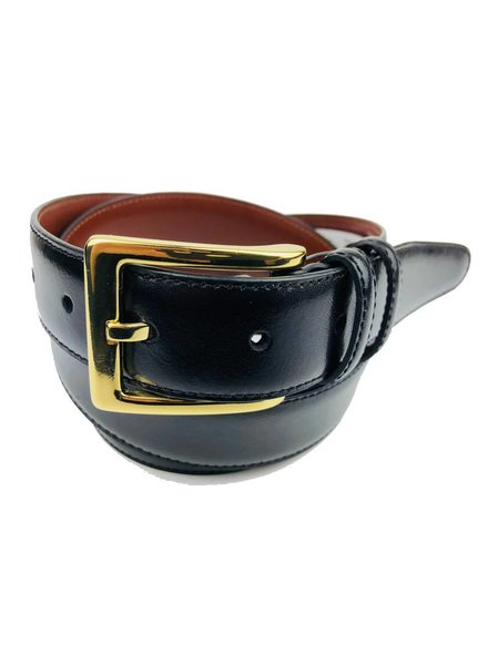 Torino Leather Black Antiqua Belts w/Brass