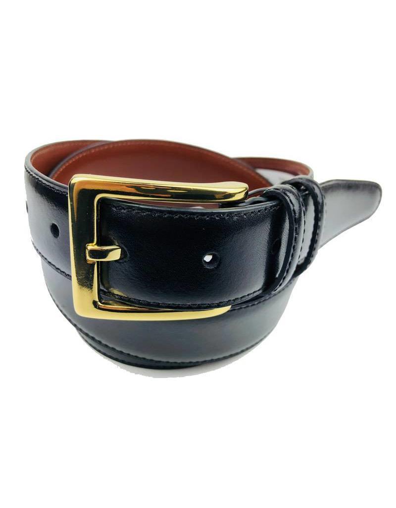 Torino Leather Black Antiqua Belts w/Brass