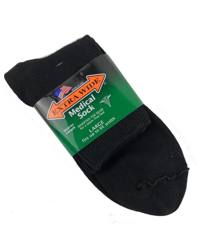 Extra Wide Quarter Length Medical Socks