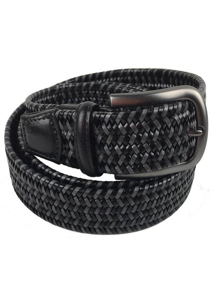 Torino Leather Mini Strand Braid Belt-B/G