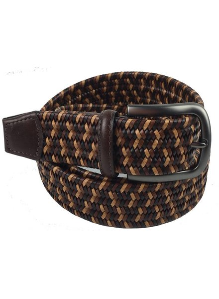 Torino Leather Mini Strand Braid Belt-B/T
