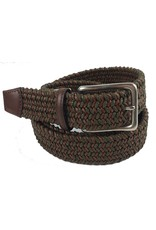 Torino Leather Mini Strand Braid Belt-O/C