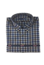 Hensley Hensley's LS Brushed Cotton Brown Check
