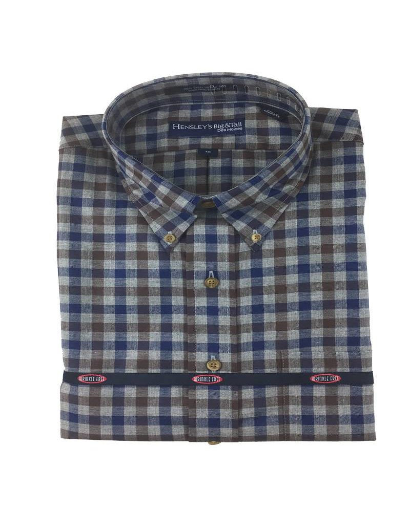 Hensley's Hensley's LS Brushed Cotton Brown Check