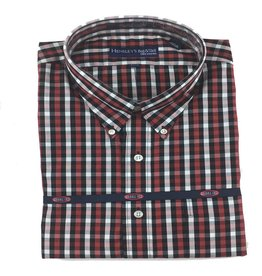 Hensley Hensley's LS Brushed Cotton Crimson Check