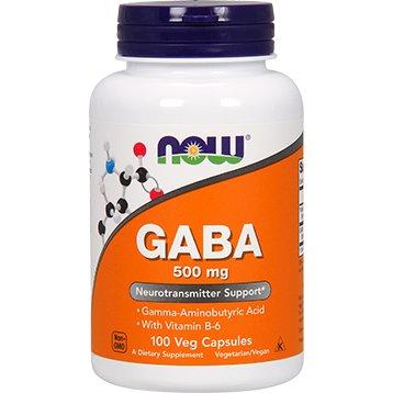 GABA NOW Foods - 100 caps - 500 mg