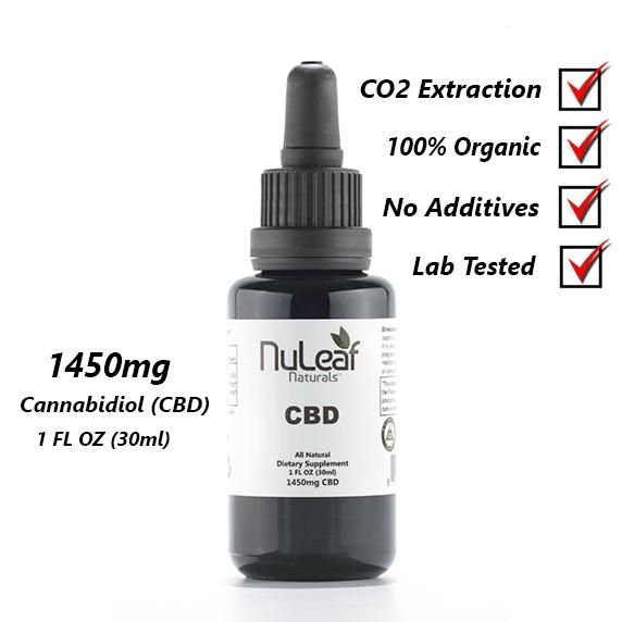 Hemp Oil (Nu Leaf) 1450 mg - 30 ml bottle