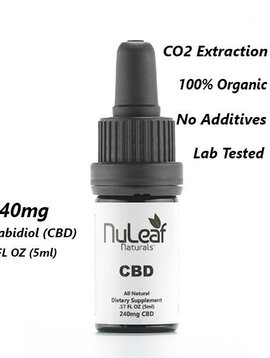 CBD Oil (Nu Leaf) 240 mg - 5 ml bottle