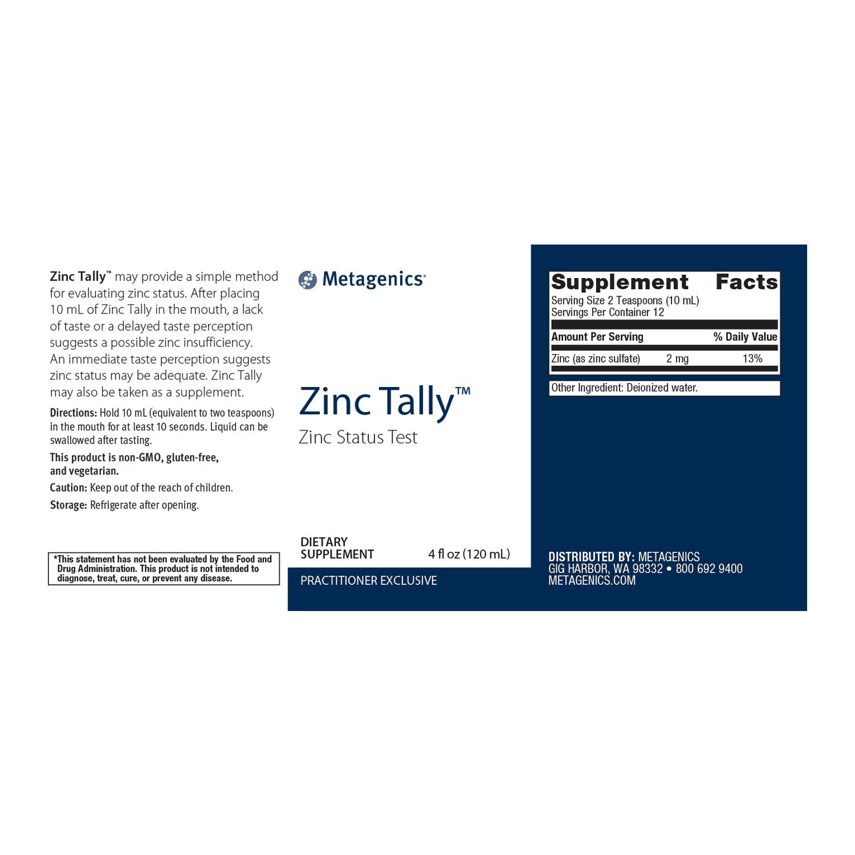 Zinc Tally Test 4 fl oz
