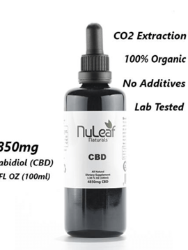 Hemp Oil (Nu Leaf) 4850 mg - 100 ml bottle