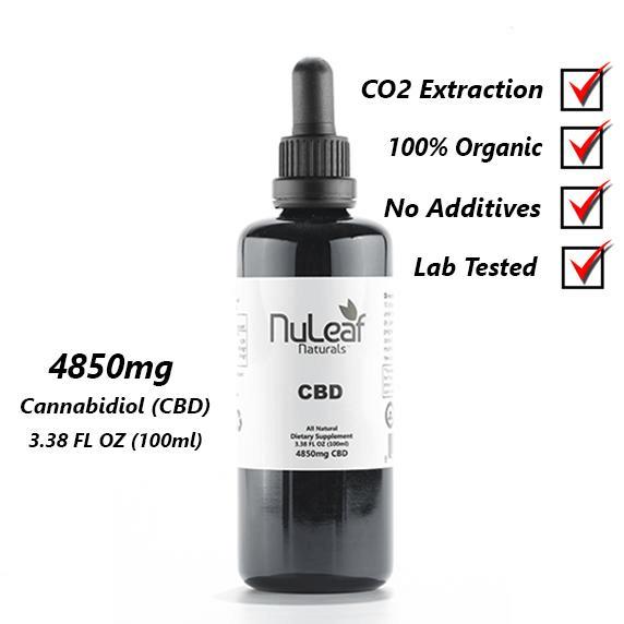 Hemp Oil (Nu Leaf) 4850 mg - 100 ml bottle