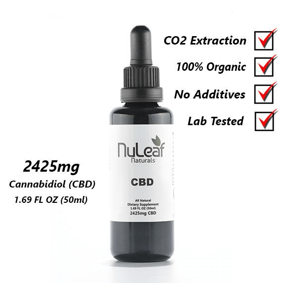 Hemp Oil (Nu Leaf) 2425 mg - 50 ml bottle