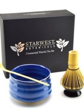 Matcha Bowl, Spoon, & Whisk Set, Blue