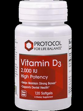 Vitamin D3 Protocol for Life 2,000 ius 120 capsules