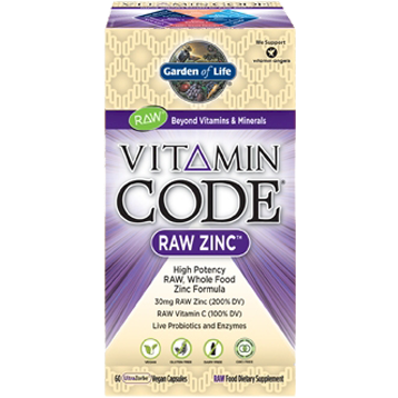 Zinc (Vitamin Code Raw) 60 vegan capsules