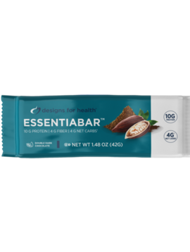 Designs for Health EssentiaBar Dbl Dk Choc - 2 bars