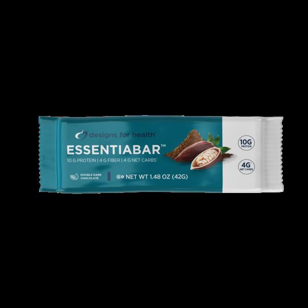 Designs for Health EssentiaBar Dbl Dk Choc - 2 bars
