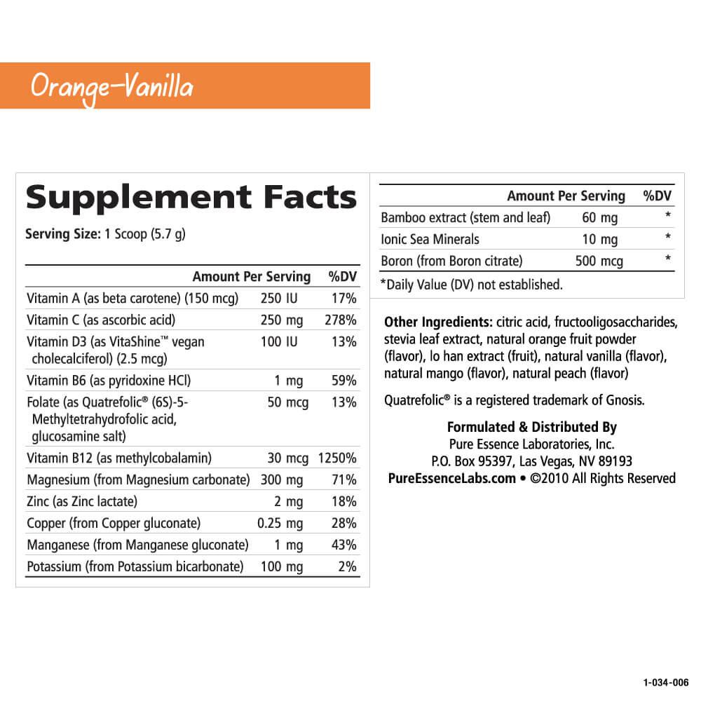 Magnesium Plus Ionic-Fizz Orange Vanilla