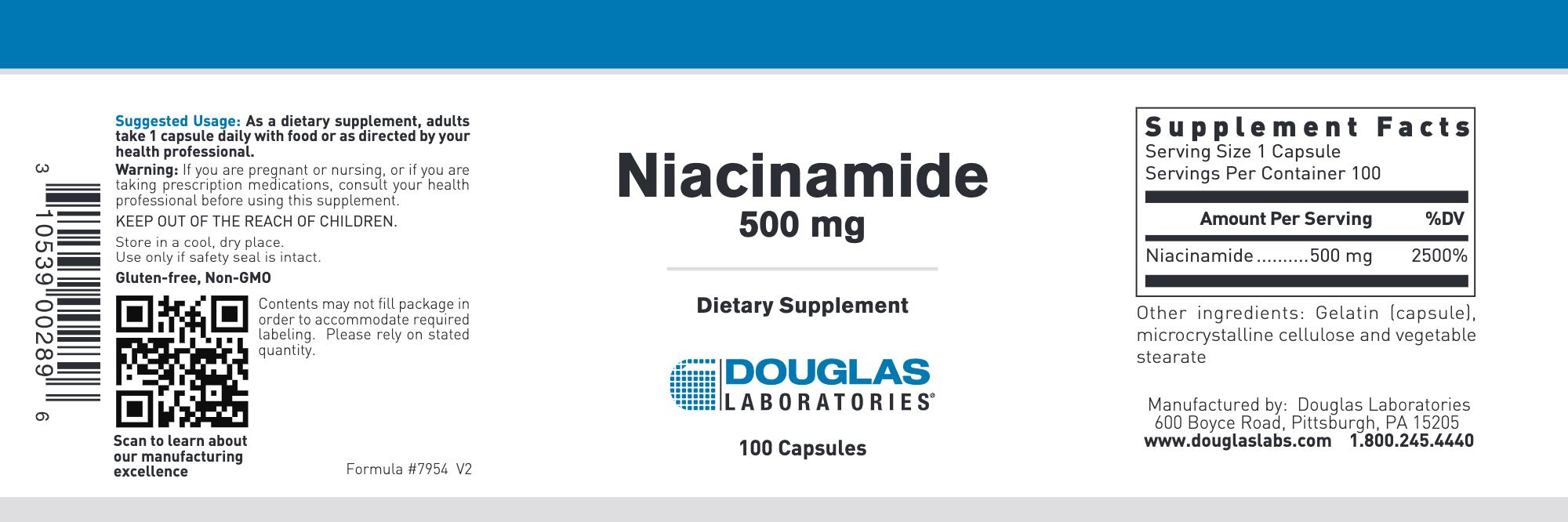 Niacinamide 500 mg 100 caps
