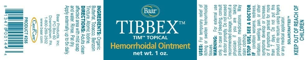 Tibbex Hemorrhoidal Ointment - 1 oz