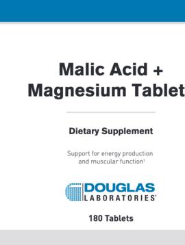 Malic Acid & Magnesium - 180 tabs