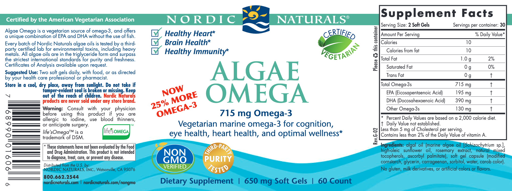 Algae Omega (Vegan)