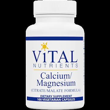 Vital Nutrients Calcium / Magnesium Malate 100 caps