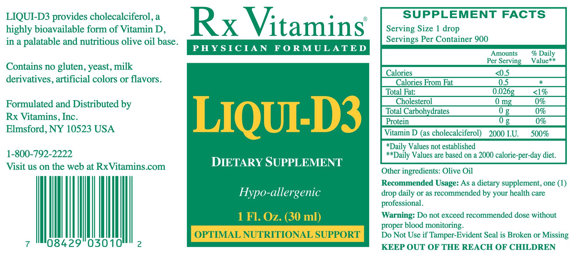 Vitamin D3 Liqui 2000 iu 1 oz