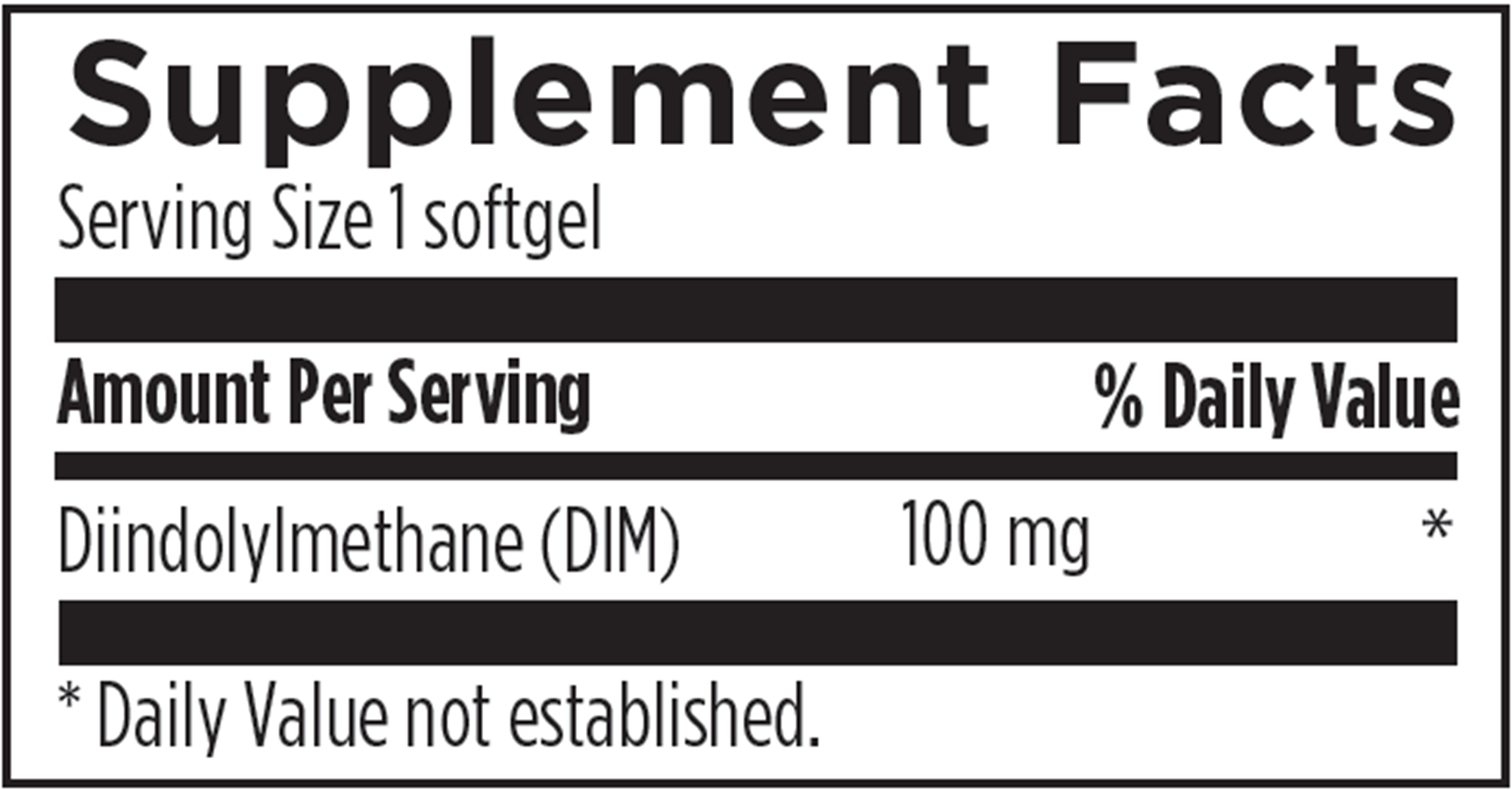 DIM-Evail 100mg 60 softgels