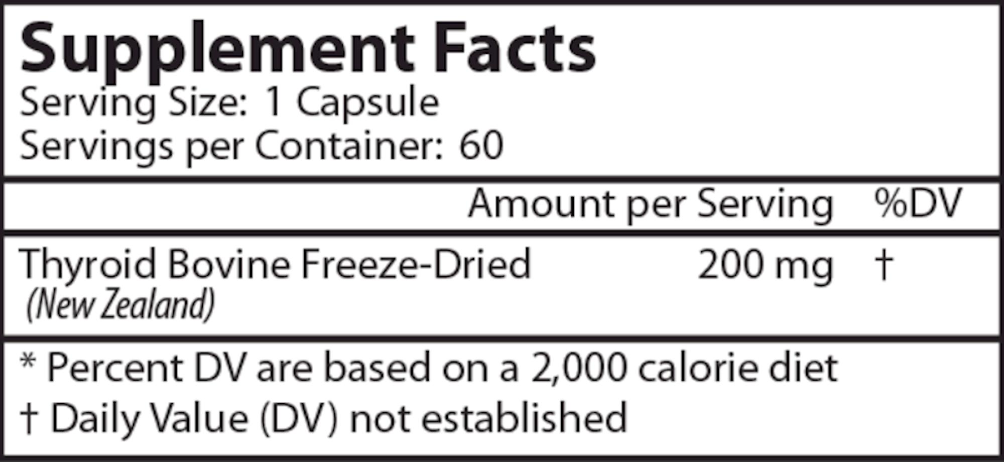 Thyroid Gland 60 caps